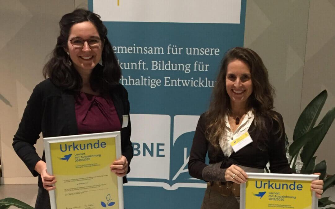 gASTWERKe und Sieben Linden erhalten Auszeichnung für ihre Bildungsarbeit